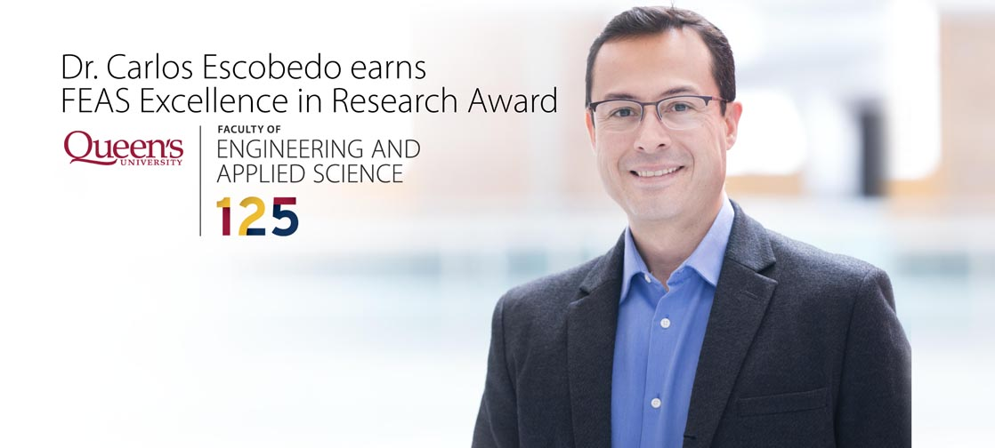 Dr. Carlos Escobedo earns FEAS Excellence in Research Award